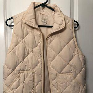 NWOT J. Crew cream puffer vest